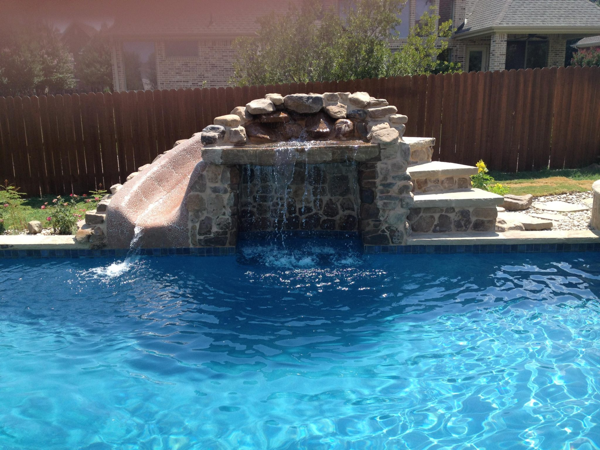 Custom grotto features new wave pools austin for Pool pictures