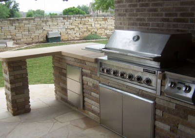 outdoor kitchen - new wave pools austin pool builder - photo gallery