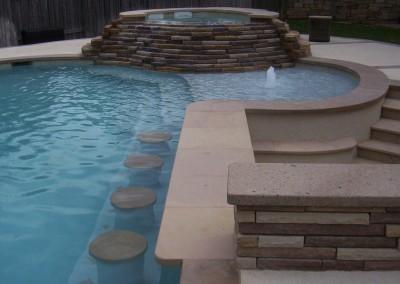 Custom Pool Features - new wave pools austin pool builder - photo gallery
