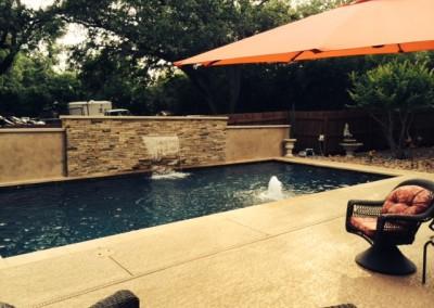 custom pool builder austin texas geometric pool