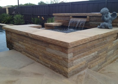 custom swimming pool rock & coping types